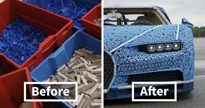 Gerçeğinden Ayıramayacağınız Tamamı 1 Milyon Lego Parçasından Yapılmış Olan Bugatti Chiron'a İnanamayacaksınız (VİDEO)