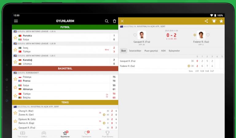 FlashScore Türkiye Android Uygulaması ile Dünyanın Sporu Cebinizde