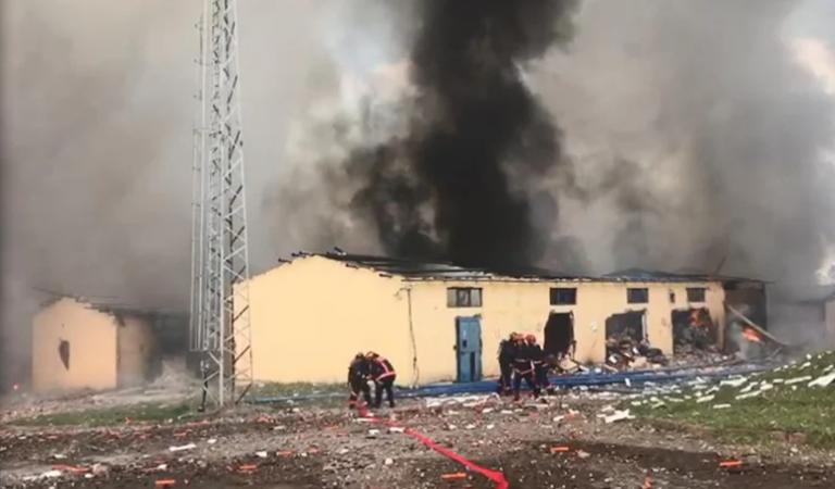 Kızılay'dan Sakarya'daki Patlama Sonrası Açıklama: Dumanı Solumayın!